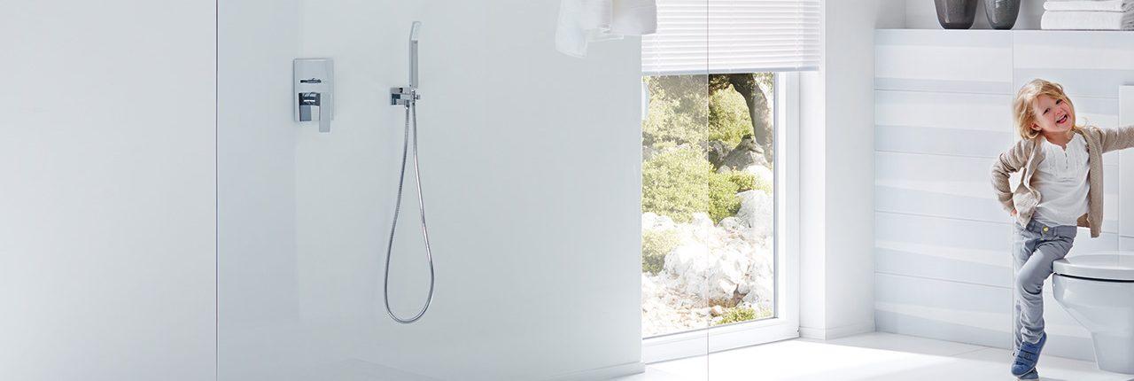 Bodenebene Dusche ohne Türen
